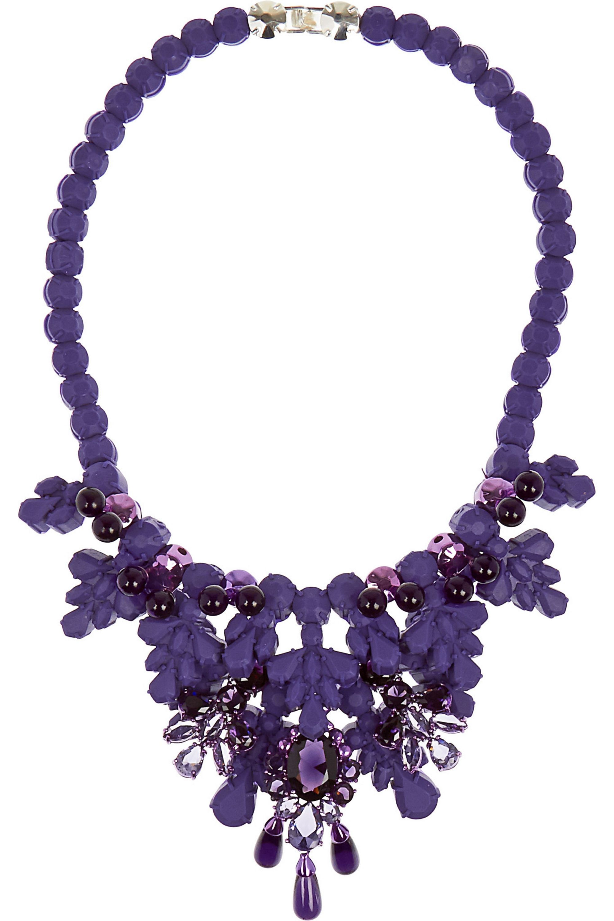 Ek Thongprasert Port de Bras coated brass, silicone and crystal necklace