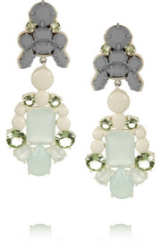 Ek Thongprasert Adagio coated brass, silicone and crystal earrings