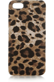 The Case Factory Leopard-print calf hair iPhone 5 case