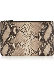 The Case Factory Snake-print leather pouch