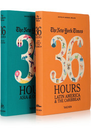 Set of two travel guides: The New York Times 36 Hours In Latin America & The Caribbean and Asia & Oceania