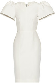 Lynton silk-dupioni dress