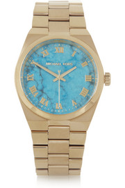 Michael Kors Channing's gold-tone stainless steel watch