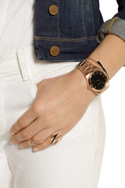 Michael Kors Channing's rose gold-tone stainless steel watch