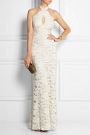 Lover Mia Eternity lace and silk gown