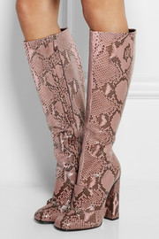 Gucci Horsebit-detailed python knee boots