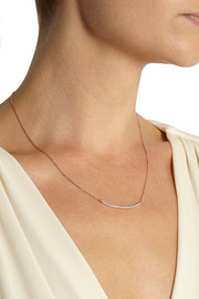Monica Vinader Rose gold-plated diamond necklace