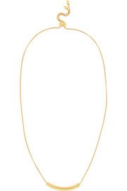 Monica Vinader Esencia hammered gold-plated topaz necklace
