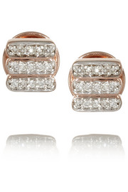 Monica Vinader Rose gold-plated diamond earrings