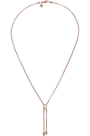 Monica Vinader Fiji rose gold-plated diamond necklace
