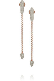 Monica Vinader Fiji rose gold-plated diamond earrings
