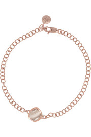 Atlantis Mini rose gold-plated agate bracelet