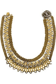Erickson Beamon Gold-plated Swarovski crystal necklace