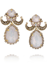 Erickson Beamon Happily Ever After gold-plated Swarovski crystal earrings