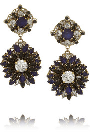 Erickson Beamon Queen Bee gold-plated Swarovski crystal earrings