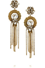 Erickson Beamon Damsel gold-plated Swarovski crystal earrings