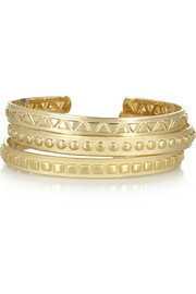 Arme De L'Amour Set of three gold-plated cuffs