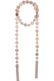 Arme De L'Amour Tassel rose gold-plated necklace