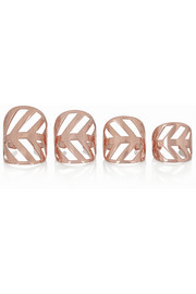 Arme De L'Amour Set of four rose gold-plated rings