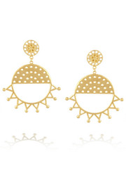 Arme De L'Amour Gold-plated brass sunburst earrings