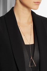 Arme De L'Amour Cow Bell Sphere rose gold-plated necklace