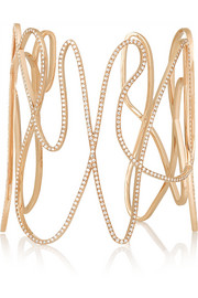 Repossi White Noise 18-karat rose gold diamond cuff