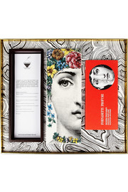 Fornasetti Flora wood and ceramic incense box