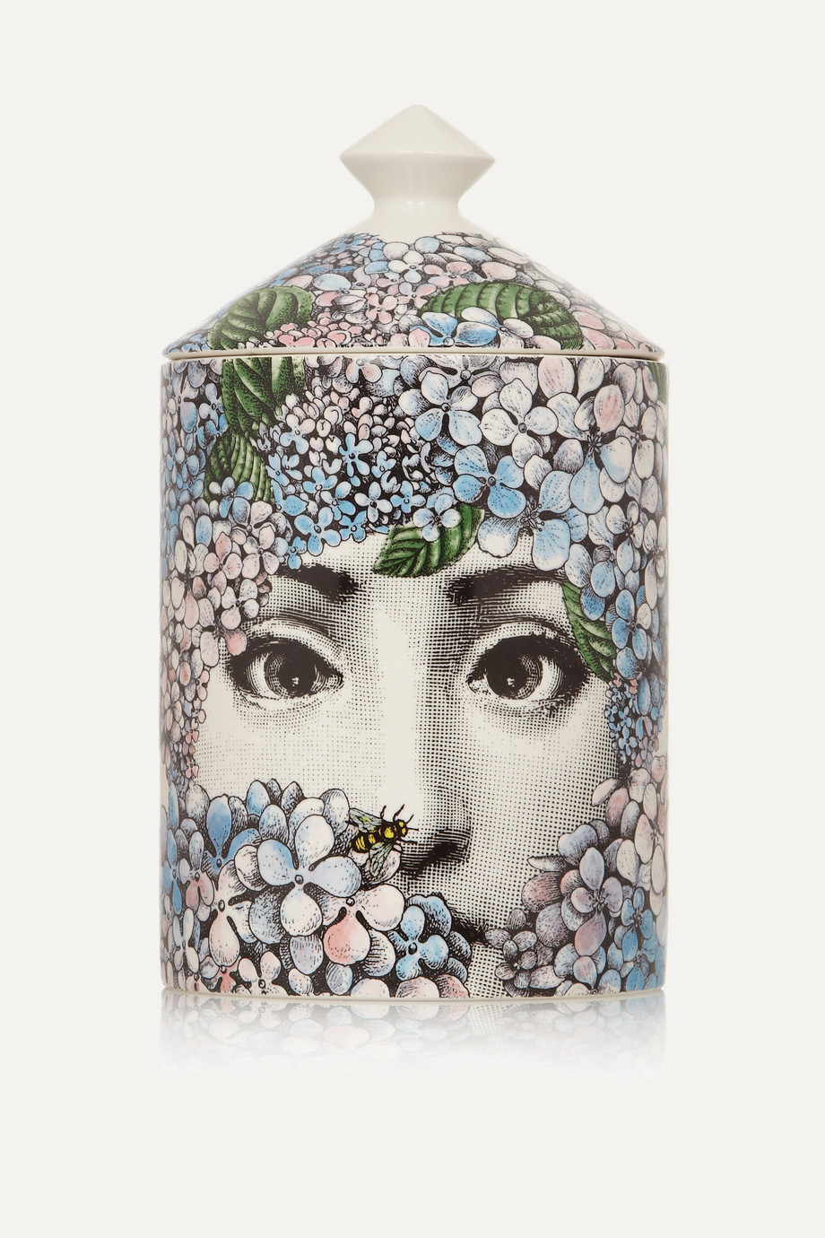 Fornasetti Ortensia Rose, Iris and Orange Blossom Scented Candle, 300g