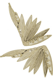 Rosantica Apache set of two gold-dipped pearl hair slides