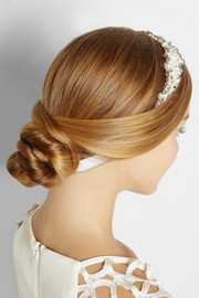 Rosantica Primavera pearl and palladium headband