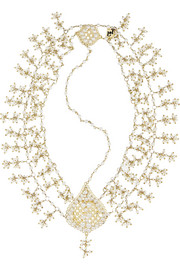 Rosantica Odalisca gold-dipped pearl headpiece