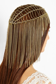 Rosantica Millefili gold-dipped chain headpiece