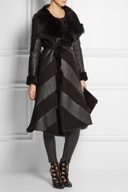 Gareth Pugh Paneled shearling coat
