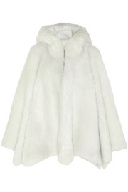 Gareth Pugh Hooded shearling cape