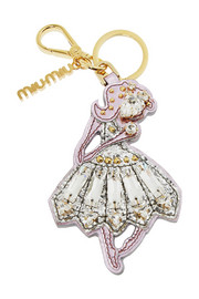 Miu Miu Ballerina embellished metallic leather keychain
