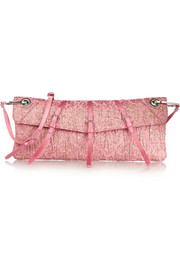 Miu Miu Satin-trimmed jacquard shoulder bag