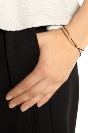 Finds + Petite Grand gold-plated and silk wrap bracelet