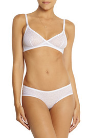 Lily stretch-lace soft-cup bra
