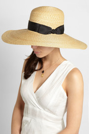 Finds + Hatmaker Nivola grosgrain-trimmed straw hat