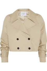+ LAHSSAN cropped cotton-gabardine trench jacket