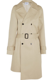 + LAHSSAN asymmetric cotton-gabardine trench coat