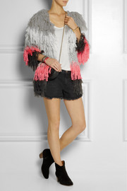 Finds + CeliaB Tina fringed crochet-knit jacket