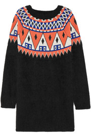 + AIMO RICHLY angora and wool-blend sweater dress