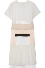 Karla Spetic Visions paneled silk-organza and satin midi dress
