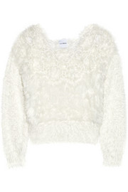 Karla Spetic Cutout textured-knit sweater