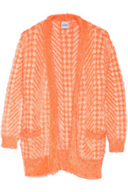 Karla Spetic Patterned textured-knit cardigan
