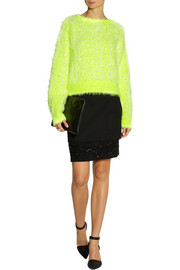 Karla Spetic Neon textured-knit sweater