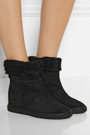 Common Projects Shearling-lined suede ankle boots