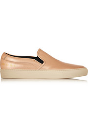 Common Projects Metallic leather slip-on sneakers