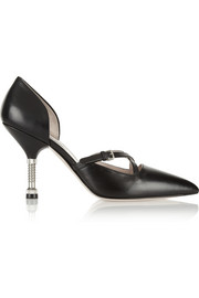 Miu Miu Screw-detailed leather pumps